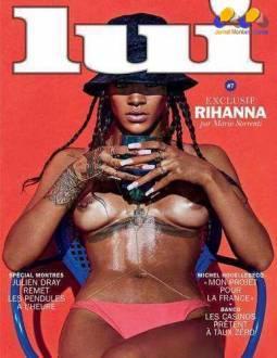 Na capa da revista, ela também aparece mostrando os seios; o ensaio foi clicado pelo fotógrafo de moda italiano Mário Sorrenti