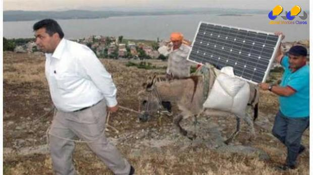 Jumentos levam energia solar e internet a lugares remotos da Turquia