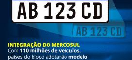 Brasil - Veículos licenciados a partir de 2016 terão placa no padrão Mercosul