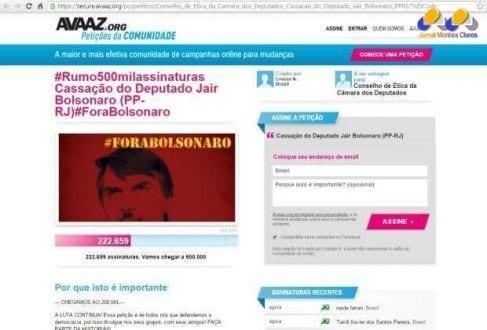 O movimento foi criado na noite de terça-feira (9), após Bolsonaro agredir verbalmente a deputada Maria do Rosário (PT-RS)