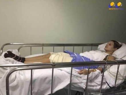 Andressa Urach ficou internada na UTI do hospital Nossa Senhora da Conceição de Porto Alegre