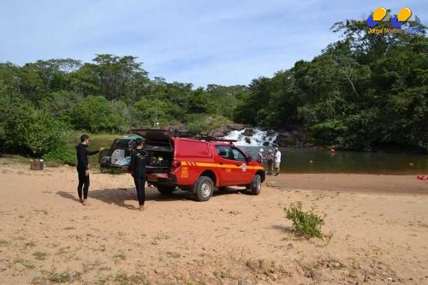 Norte de Minas - Corpo de Bombeiros realiza estudo de situação no Balneário do Rio Pandeiros