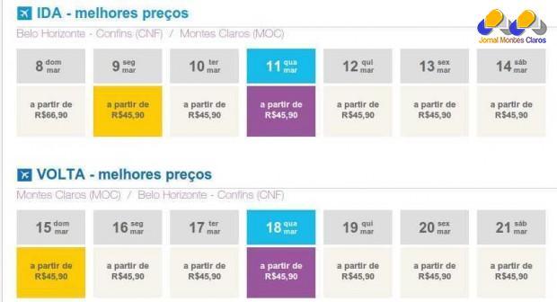 Montes Claros tem a passagem de avião mais barata do Brasil