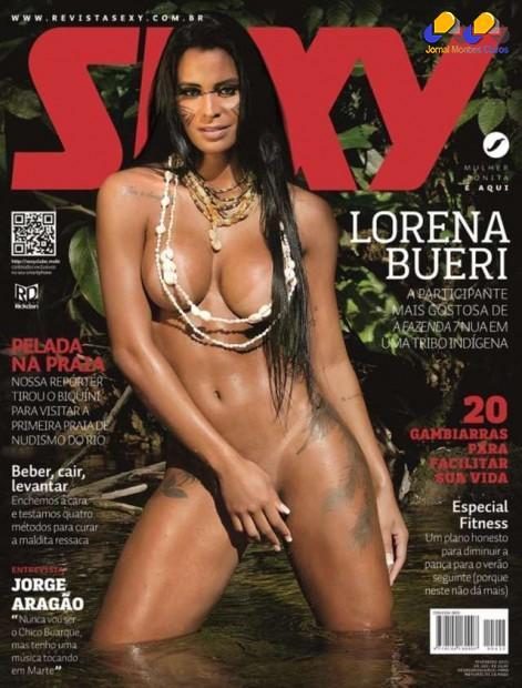 Lorena Bueri aparece nua na edição de fevereiro da revista Sexy