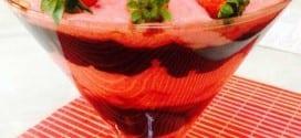 Gastronomia - Receita de morango e chocolate