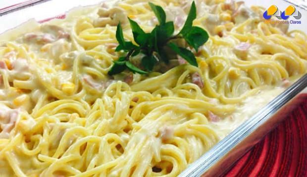 Gastronomia - Receita de Espaguete à Delícia