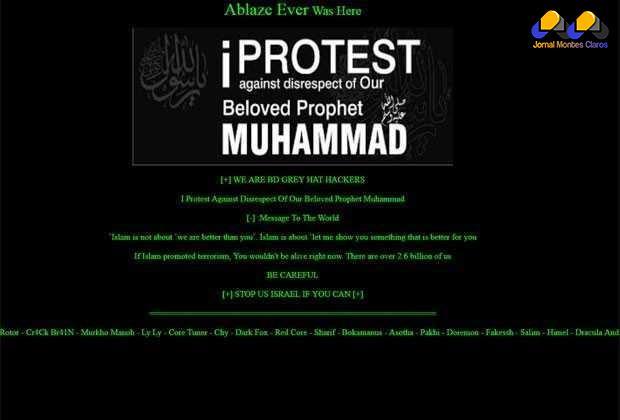 """Hackers invadem site da UFRJ contra o """"desrespeito ao profeta Maomé"""""""
