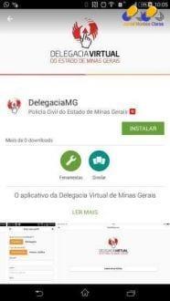"""MG - Polícia Civil de Minas Gerais lança aplicativo """"Delegacia Virtual"""" para registros de ocorrências simples"""