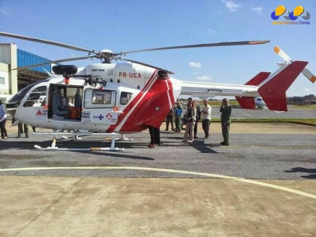 MG - Novo helicóptero do Corpo de Bombeiros é batizado de Arcanjo 4