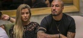 Aline e Fernando não gostaram da decisão de Amanda de tirá-los da prova do líder Foto: Paulo Belote