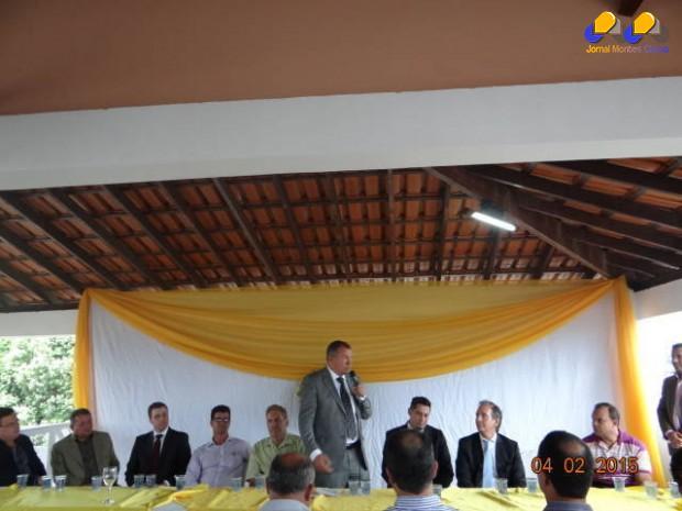 O secretario Paulo Guedes no discurso