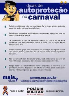 Dicas PM Carnaval II (Jornal Montes Claros)