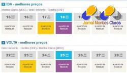 Promoção deste Carnaval garante passagem por R$ 44 nos voos partindo de Montes Claros