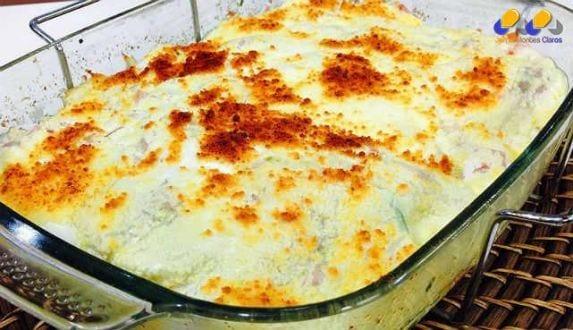 Gastronomia - Receita de batatas em camadas com mussarela e presunto