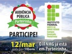 Educação - IFNMG quer ouvir população sobre implantação do Câmpus Avançado Porteirinha