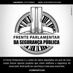 Duas pistolas compõem a imagem do Congresso Nacional no símbolo da frente parlamentar