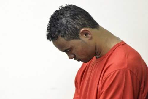 Ex-goleiro Bruno Fernandes em março de 2013, durante julgamento em Contagem (MG), no qual era acusado de mandar matar a ex-amante, Eliza Samudio
