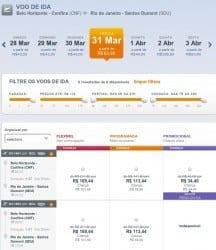 Montes Claros - Passagem por R$ 52 nos voos de Montes Claro para Belo Horizonte