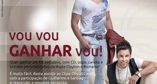 Sorteio - Quer ganhar um Kit exclusivo, com CD, copo, caneta e muito mais da dupla Clayton e Romário?