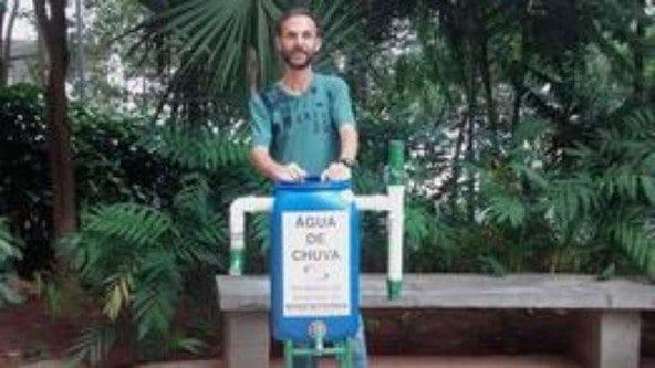 Edison Urbano criou uma minicisterna de baixo custo e agora ensina outros a construí-la