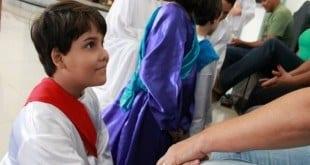 Montes Claros - Paróquia São Sebastião, realizou pelo segundo ano consecutivo a missa de lava pés infantil