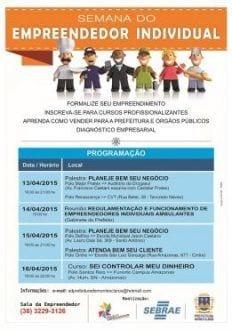 Sala do Empreendedor e SEBRAE promovem Semana do Empreendedor Individual em Montes Claros