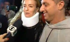 Casal recebeu alta de hospital às 21h15 dessa segunda Foto: Reprodução/TV Globo