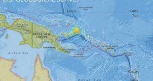 Oceania - Terremoto de 7,1 graus em Papua Nova Guiné