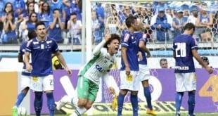 Camilo, ex-jogador do Cruzeiro, comemora o seu gol no Mineirão Daniel Teobaldo/FuturaPress