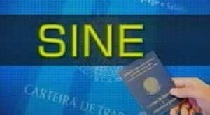 Vagas do Sine em Montes Claros – 01/07/2015