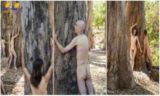 Ativistas protestam nus contra a derrubada de árvores nos EUA