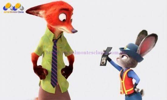 Personagens principais de Zootopia são a coelha policial Judy e a raposa Nick