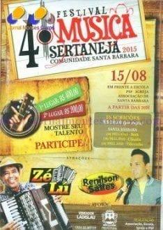 Cultura Moc - Festival de música Sertaneja anima a comunidade de Santa Bárbara