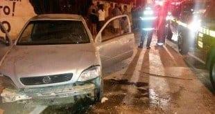 Montes Claros - Carro tomba e deixa uma menina de nove anos ferida no bairro Jaraguá