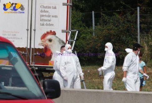 Os cadáveres foram localizados nesta quinta (27) em um caminhão-frigorífico com placa húngara a 40 km de Viena (capital da Áustria)