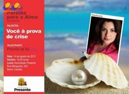 """Montes Claros - """"Você à prova de crise"""" é o tema do Pérolas para a Alma, com a coaching Priscilla de Sá"""