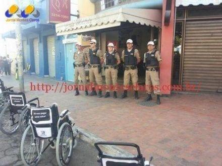Montes Claros - Polícia Militar faz blitz educativa na semana do trânsito no centro de Montes Claros
