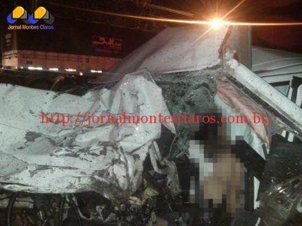 Montes Claros - Acidente deixa um jovem morto na BR-365 próximo a ponte Branca