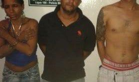 Montes Claros - PM prende três por tráfico de drogas no bairro Morrinhos e de Lourdes Foto: Divulgação PM