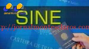 Vagas do Sine em Montes Claros – 04/09/2015