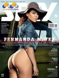 Revista Sexy tira a roupa da jornalista Fernanda Alves,que mostra corpão aos 40 anos