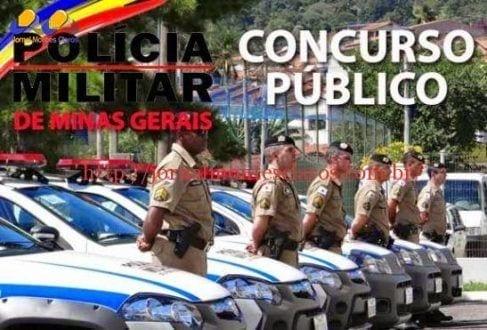 Concursos - Polícia Militar de Minas, abre inscrições para o concurso de formação de soldados para interior do estado