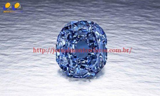 O Blue Moon, um espetacular diamante azul avaliado entre 35 e 55 milhões de dólares