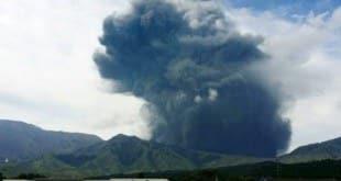 Até o momento, a erupção não deixou vítimas Foto: Jiji Press / AFP