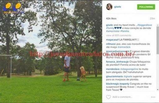 Gisele Bündchen se declara para Tom Brady e afasta rumores de divórcio