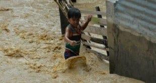 Tufão causou chuvas torrenciais, inundando cerca de 70 localidades