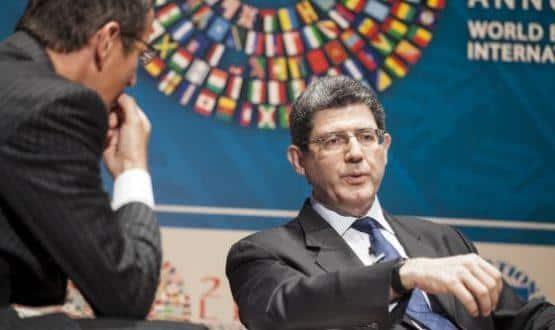 El ministro de Finanzas brasileño, Joaquim Levy, el jueves en Lima (Perú). / G. GUTIERREZ (BLOOMBERG)