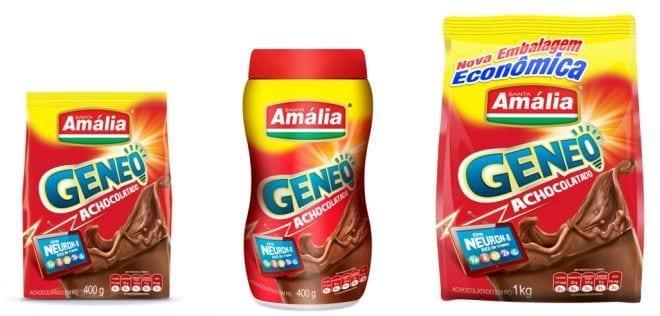 O grande lançamento deste semestre é o Geneo, novo achocolato em pó da Santa Amália e o único do mercado que vem com o complexo nutritivo NEURON –B.