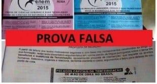 Enem 2015 - Inep diz que são falsas as fotos de supostas provas do Enem