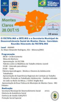 Montes Claros - Fórum Municipal vai discutir alternativas para a erradicação do trabalho infantil